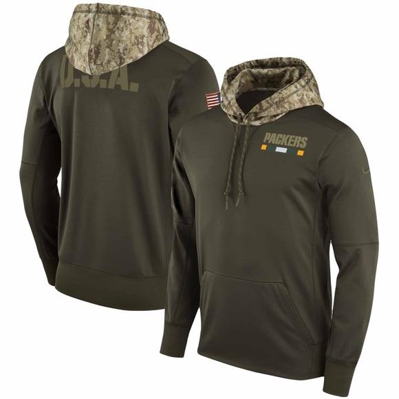 green bay packers salute to military sweatshirt